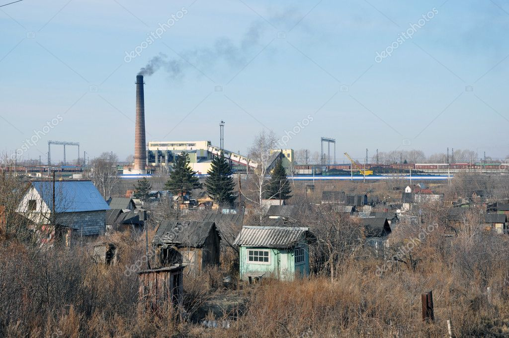 Factory and smoking pipes. — Stock Photo #10183427