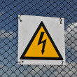 The sign warning of danger. — Stock Photo