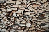 Поленница дров. — Stock Photo