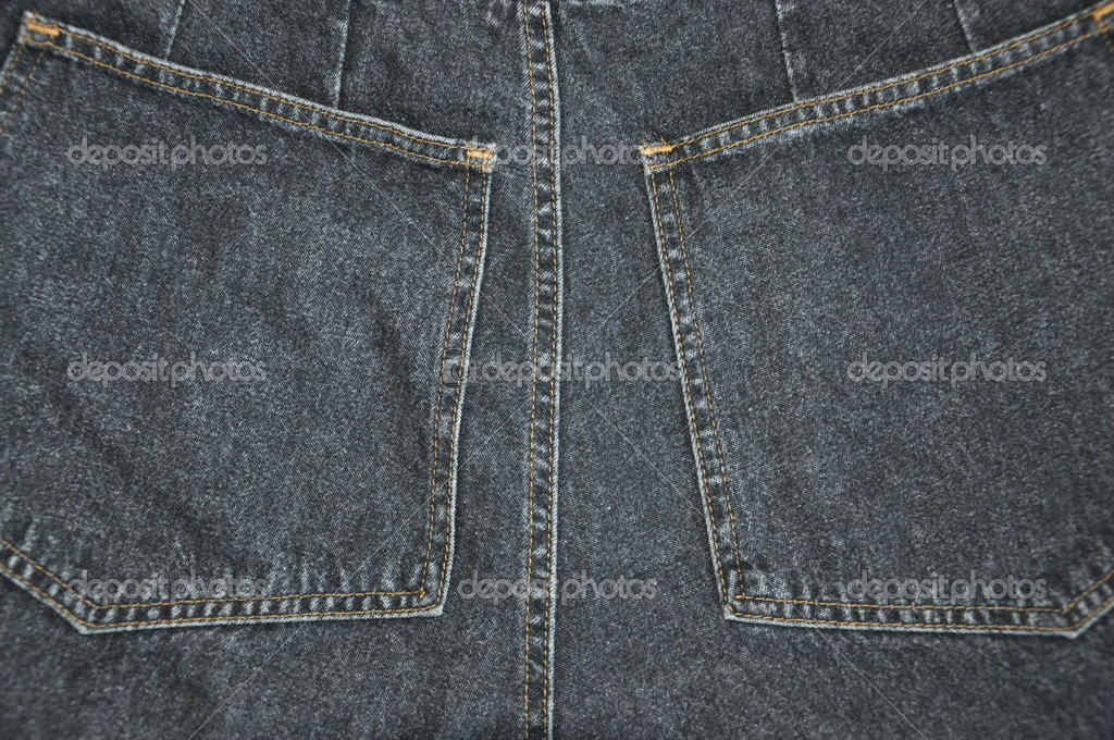 Pockets of jeans. The texture. — Stock Photo #8910869
