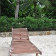 Stock Photo: Chaise lounge on beach.