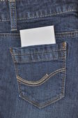 Pockets of jeans. — Stock Photo