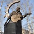 Monument to Russirock musiciViktor Tsoi. Barnaul. — Stock Photo #9320796