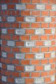 纹理的砖柱. — 图库照片