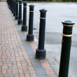 Anti-ram raid bollards — Stock Photo