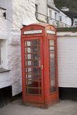 Red british phone box — Stock Photo