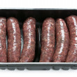Stock Photo: Venison sausages