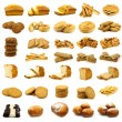 Stock Photo: Collection of fine pastry, cookies,cakes and bread
