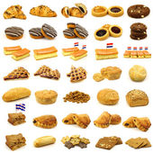 Collection of freshly baked pastry — Stock Photo