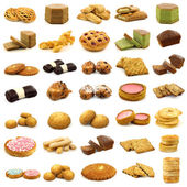 Collection of fine pastry, cookies,cakes and bread — Stock Photo