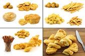 Raccolta di spuntini deliziosi formaggi — Foto Stock
