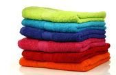 Stacked colorful towels — ストック写真