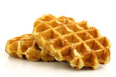 Freshly baked waffles — Stock Photo