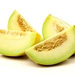 Fresh galia melon pieces — Stock Photo
