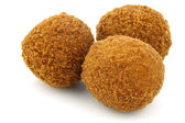 "A real traditional Dutch snack called ""bitterballen"" — Stock Photo"