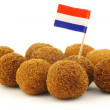 "Stock Photo: Real traditional Dutch snack called ""bitterballen"""