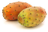 Two fresh colorful cactus fruits — Stock Photo