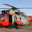 Stock Photo: British Westland Sikorsky SeKing HU-5 helicopter