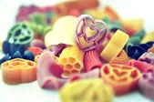Heart pasta selective focus — Stock Photo