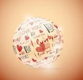Sphere of love — Stock Vector