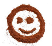 Smile from coffee — Stock Photo