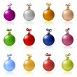 Clip-art of Christmas balls toys — Stock Vector
