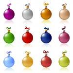 Clip-art of Christmas balls toys — Stock Vector #8808253