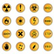 Danger buttons — Stock Vector