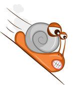 Hastening snail — Stock Vector