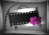 Grunge film banner — Stock Vector