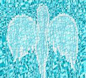 Mozaika z aniołem — Wektor stockowy