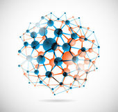 Kimyasal küre — Stok Vektör
