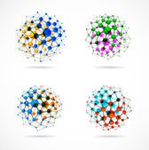 Chemical spheres — Vector de stock