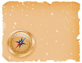 Compass with a paper — Stockvector