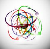 Abstract atom — Stock Vector