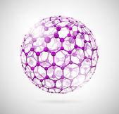 Molecular sphere — Stock Vector