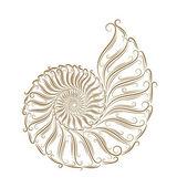Sketch of seashells — Stock Vector