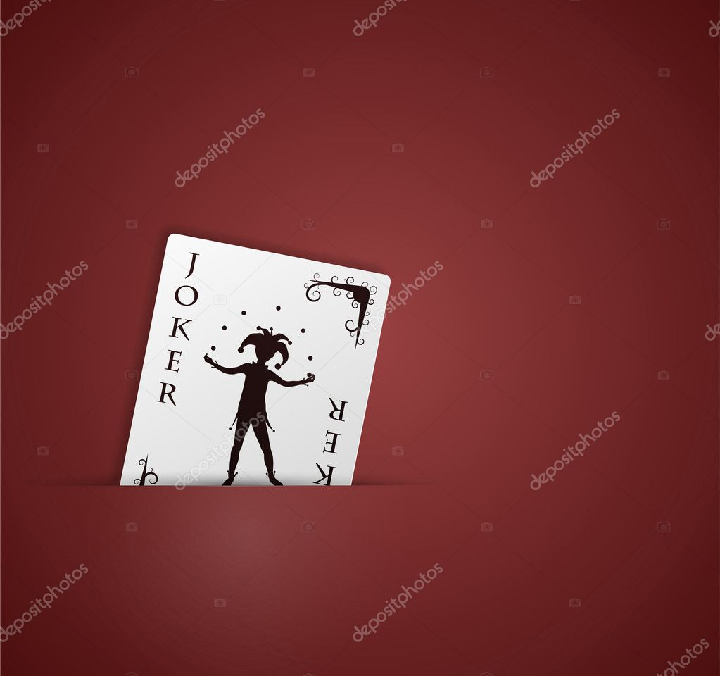 Joker card in pocket. Eps 10 — Imagen vectorial #9933798
