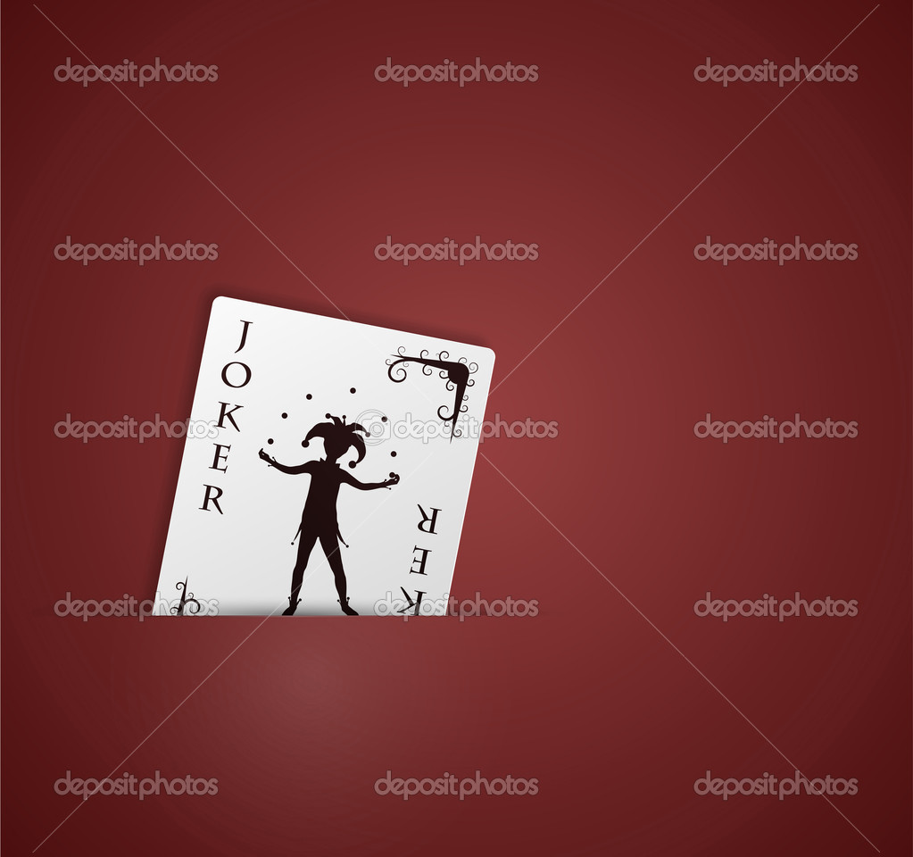 Joker card in pocket. Eps 10 — Image vectorielle #9933798
