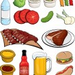 Food Clipart — Stock Vector