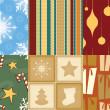 Christmas Seamless Patterns — Vettoriali Stock