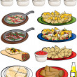 Mexican Food Clipart — Stock Vector