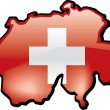 Map of Switzerland — Stock Vector