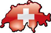 Karta över schweiz — Stockvektor