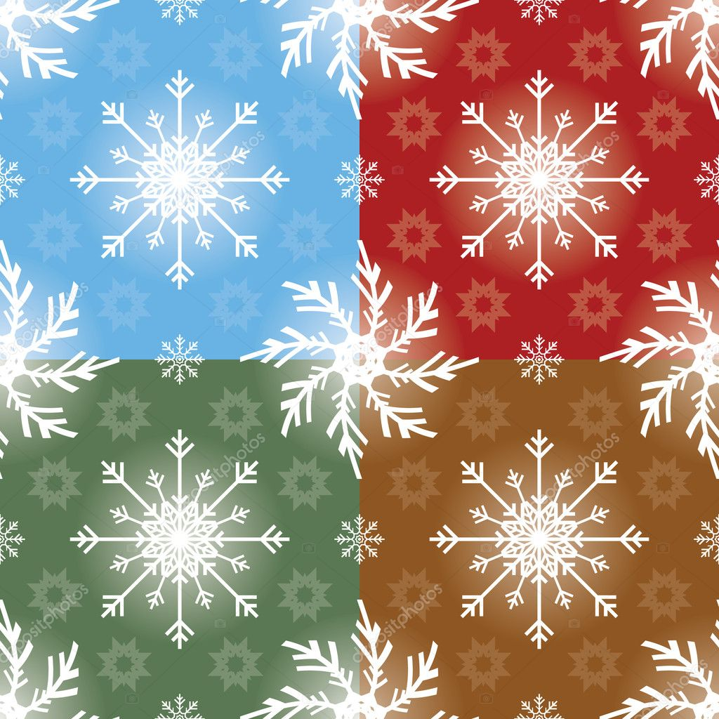 Christmas Seamless Patterns — Stock Vector #8898217