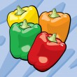 Stock Vector: Bell Peppers