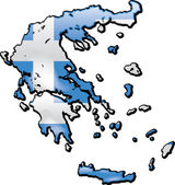 Map of Greece — Vector de stock