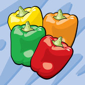 Bell Peppers — Stock Vector