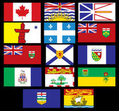 Canadian Flags — Vetorial Stock