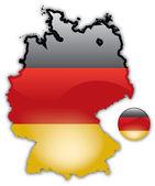 Szczegółowa mapa niemiec — Wektor stockowy